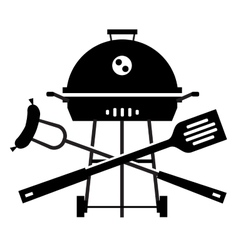 Bbq logo design template grill or cooking vector