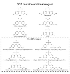 Ddt pesticide and its alanogues vector