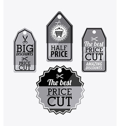 Big sale label design vector