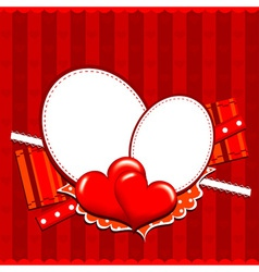 Template heart greeting card vector