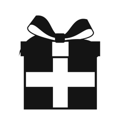 Present box simple icon vector