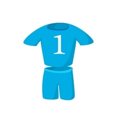 Football kit cartoon icon vector