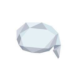Polygonal bubble icon with geometrical figures vector