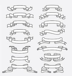 Vintage ribbon vector image