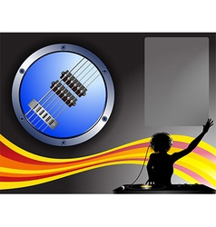 Guitar border dj and copy space background vector