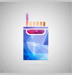 abstract creative concept icon of cigarette vector image vector image