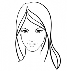 beauty girl face vector icon vector image vector image