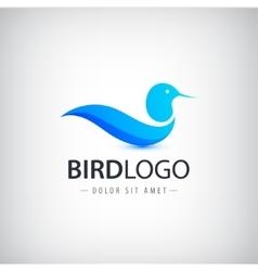 Blue bird logo icon isolated abstract vector