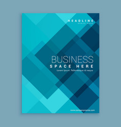 Blue magazine cover template vector
