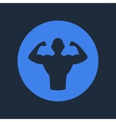 Bodybuilder fitness logo icon vector