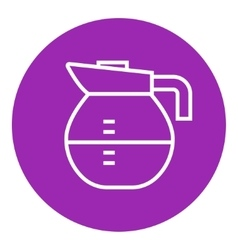 Carafe line icon vector