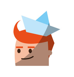 Cartoon man head icon image vector