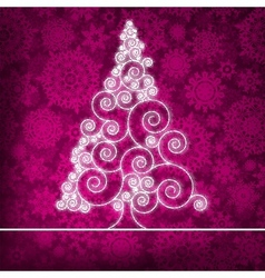Christmas Ornamental Tree Background vector image