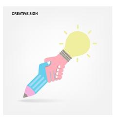 Creative handshake abstract design vector