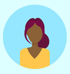 female avatar profile icon round african american vector image vector image