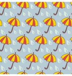 Funny umbrella vector image