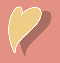 heart icon sticker love symbol valentines day vector image