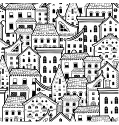 Houses new pattern monochrome 2 vector