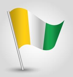 ivory coast flag on pole vector image