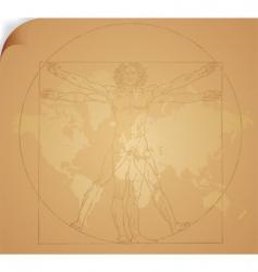 Leonardo da vinci art vector