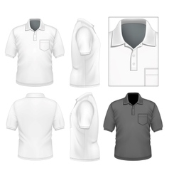 Mens polo-shirt design template vector image vector image