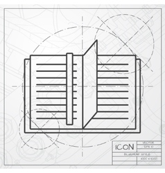 notebook icon Epsclassic blueprint of0 vector image