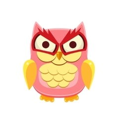 Pink owl holding the laughter vector