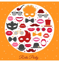 Retro Party Invitation vector image vector image