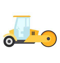road roller icon flat style vector image vector image