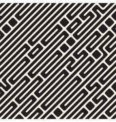Seamless Black and White Diagonal Maze vector image