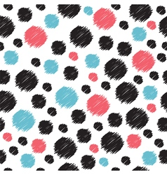 Seamless pattern with hand drawn red blue and vector image