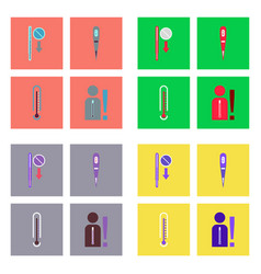 Set of clinical icons medical equipment on the vector