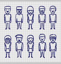 sketch people sing sketch boy vector image vector image