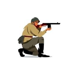 Soviet army soldier cartoon vector