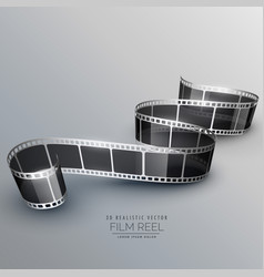Stylish 3d filmstrip background vector