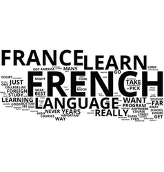 The essential guide to learn french in france vector