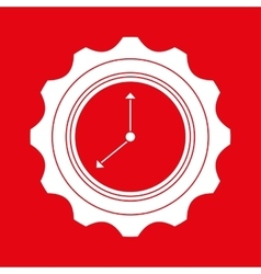 time flat icon design vector image
