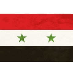 True proportions Syria flag with texture vector image vector image