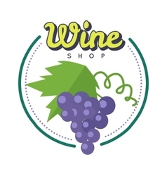 Wine shop poster winemaking concept logo vector