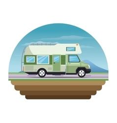 Campervan vehicle and transportation design vector