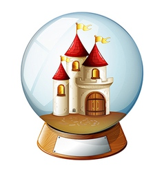 A dome with a castle vector image