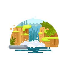 natural river waterfall vector image