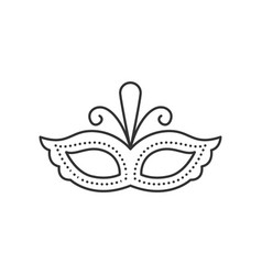 Carnival mask icon vector