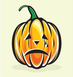 Holiday pumpkin jack lantern vector