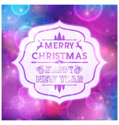 Abstract greeting with Christmas and New Year vector image