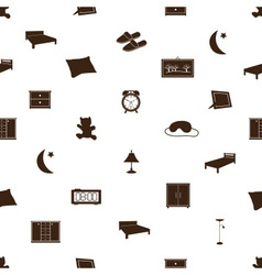 bedroom icons pattenr eps10 vector image