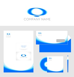 Design of corporate identity templates vector