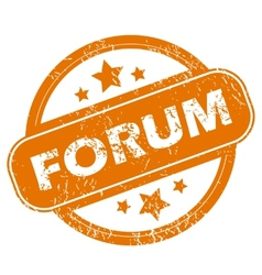 Forum grunge icon vector