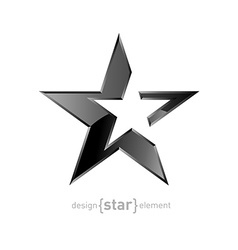 Abstract silver star on white background vector