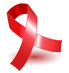 Red ribbon and shadow vector